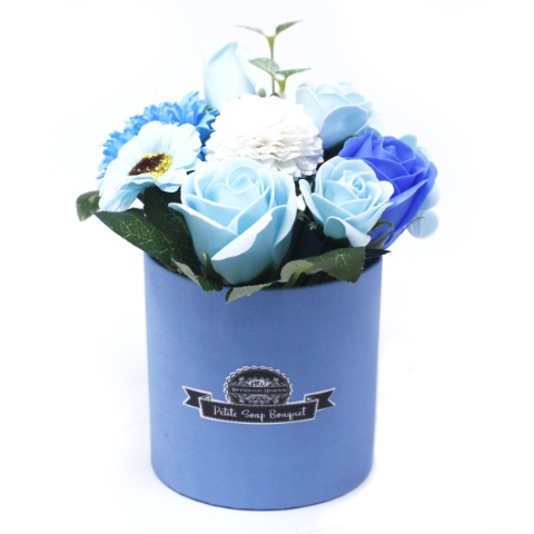 Soothing Blue Soap Bouquet Petite Gift Pot